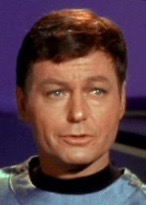 DeForest Kelley as Dr. McCoy